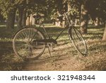 Retro Bicycle With Vintage...