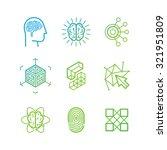 vector logo design templates... | Shutterstock .eps vector #321951809