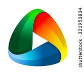 abstract triangle logo design | Shutterstock .eps vector #321953834