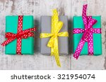 Wrapped Colorful Gifts For...