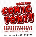 creative red high detail comic... | Shutterstock .eps vector #321954170