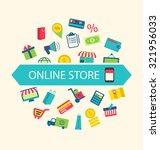 illustration e commerce... | Shutterstock . vector #321956033