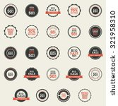 set of sales labels with text... | Shutterstock .eps vector #321958310