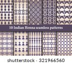indian of patterns set for... | Shutterstock .eps vector #321966560