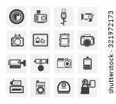 camera icon set   Shutterstock .eps vector #321972173