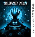 halloween night event flyer... | Shutterstock . vector #321975944