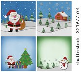 collection of christmas... | Shutterstock . vector #321977594