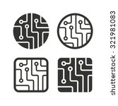 Circuit Board Icons. Technolog...