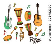 vector set with music... | Shutterstock .eps vector #321982310