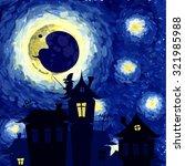 vector illustration  starry... | Shutterstock .eps vector #321985988