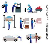 car service maintenance icon .... | Shutterstock .eps vector #321987698