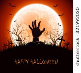 halloween background with moon... | Shutterstock .eps vector #321992030