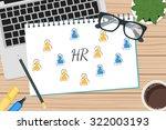 vector drawing human resources...   Shutterstock .eps vector #322003193