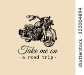 take me on a road trip ... | Shutterstock .eps vector #322004894