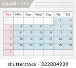 January 2016.planning Calendar...