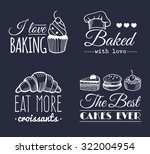 vector set of vintage bakery... | Shutterstock .eps vector #322004954