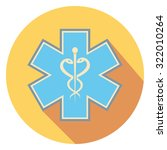 medic sign flat icon in circle | Shutterstock .eps vector #322010264