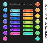 set of glossy buttons for your...