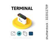 terminal icon  vector symbol in ...