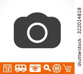 photo camera. icon. vector