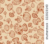 seamless pattern with mushrooms | Shutterstock .eps vector #322023140