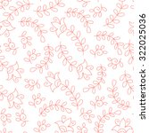 flower pink seamless pattern. | Shutterstock . vector #322025036