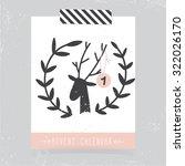 printable christmas advent... | Shutterstock .eps vector #322026170