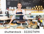 woman working at cafe | Shutterstock . vector #322027694