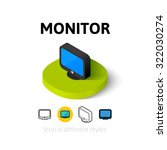 monitor icon  vector symbol in...