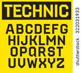 vector modern font. technical... | Shutterstock .eps vector #322031933