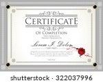 certificate  diploma of... | Shutterstock .eps vector #322037996