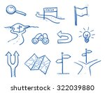 icon set business search  ... | Shutterstock .eps vector #322039880
