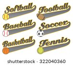 sports with tail banners is an... | Shutterstock . vector #322040360