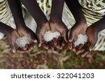 group of african black children ... | Shutterstock . vector #322041203