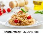 pasta with tomato sauce ... | Shutterstock . vector #322041788
