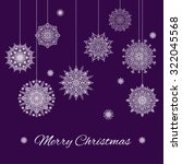 christmas banner with... | Shutterstock .eps vector #322045568
