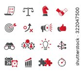 strategy and business icon set | Shutterstock .eps vector #322047500