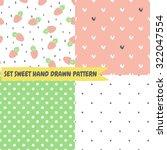 set cute funny seamless pattern ... | Shutterstock .eps vector #322047554