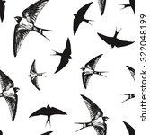 flying birds  black and white... | Shutterstock .eps vector #322048199