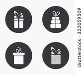 vector modern gift icons set on ...