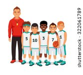 school boys basketball team... | Shutterstock .eps vector #322061789