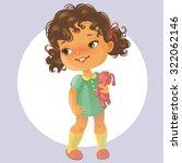 vector portrait of cute little... | Shutterstock .eps vector #322062146