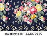 traditional batik sarong... | Shutterstock . vector #322070990
