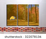 the collage photos on tile...   Shutterstock . vector #322078136