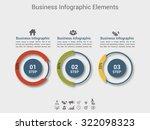modern business circle origami... | Shutterstock .eps vector #322098323