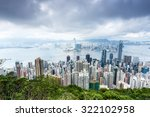city skyscrapers seated at the... | Shutterstock . vector #322102958
