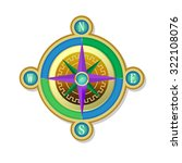 fantasy compass with wind rose    Shutterstock .eps vector #322108076