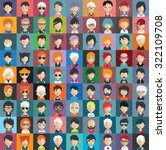 set of people icons in flat... | Shutterstock .eps vector #322109708