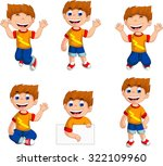 expression of boy cartoon... | Shutterstock .eps vector #322109960
