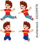 Expression Of Boy Cartoon...